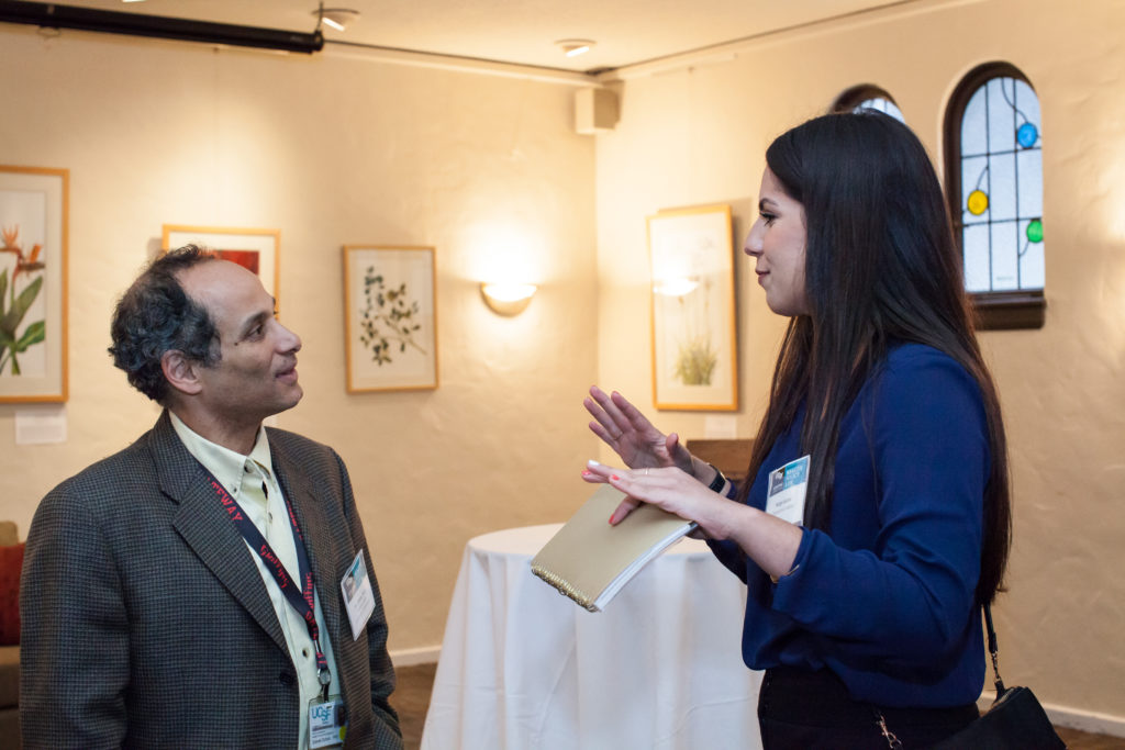 HPL co-founder Dan Dohan speaks with prospective student Nargis Aslami.