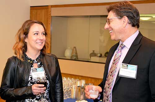 UCSF's Jessaca Machado with UC Hastings College of the Law Dean Faigman